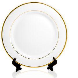 Тарелка белая с золотым ободком 200 мм