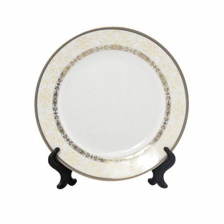 """Тарелка белая фарфоровая с орнаментом """"Удача"""""""