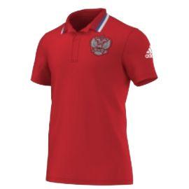 Поло красное Сборная России Adidas