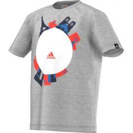 Детская футболка серая х/б Adidas Euro