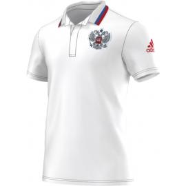 Поло белое Сборная России Adidas