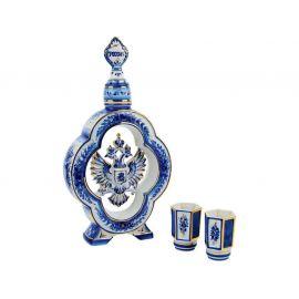Набор «Герб России»: штоф для водки с двумя стопками