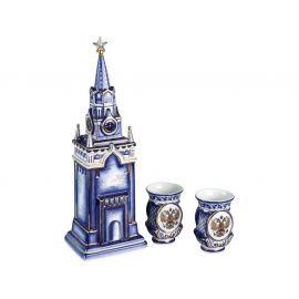 Набор «Кремль»: штоф для водки с двумя стопками