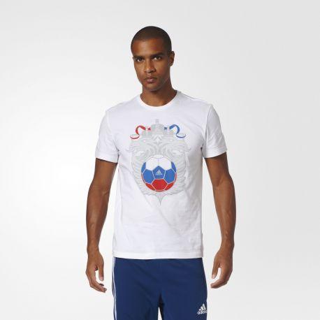Футболка мужская Россия Adidas белая