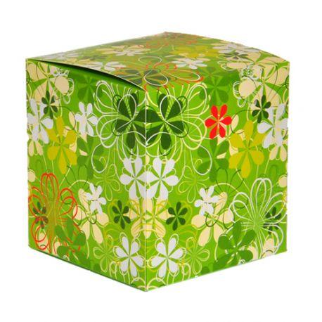Коробка для кружки зеленая