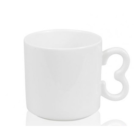 """Кружка белая кофейная с ручкой-цифрой """"3"""""""