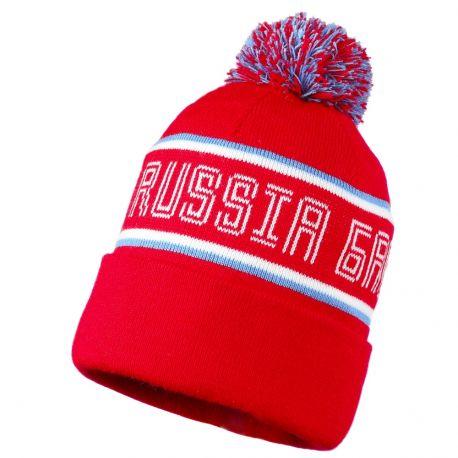 """Шапка """"Russia Баскет"""" красная"""