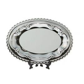 Тарелка металлическая овальная