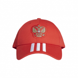 Кепка РОССИЯ 3-STRIPES красная
