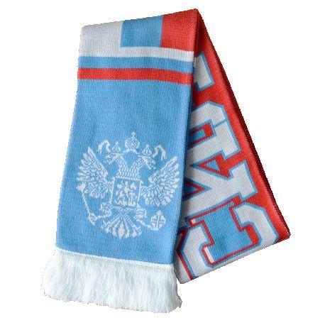 Шарф синий с белым орлом и щитом