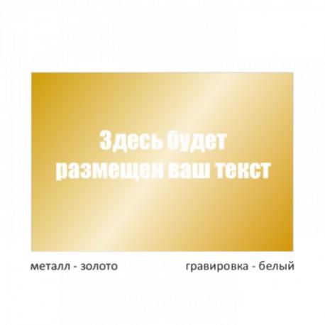 Табличка малая металлическая гравированная