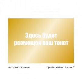 Табличка средняя металлическая гравированная