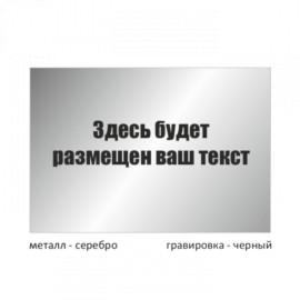 Табличка большая металлическая гравированная T300GR_m