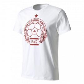 Футболка мужская Россия Stamp Adidas (белый)