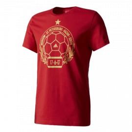 Футболка мужская Россия Stamp Adidas (красный)