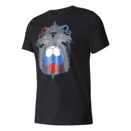 Футболка мужская Россия Adidas черная