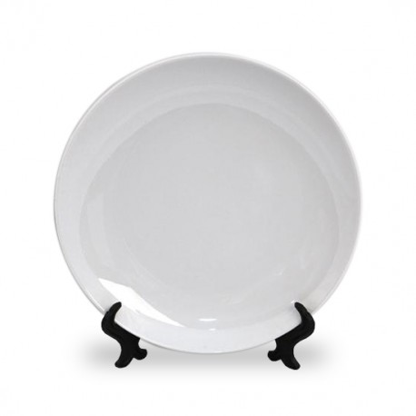 Тарелка фарфоровая белая 200 мм