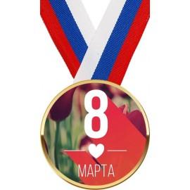 Шоколадная медаль с лентой