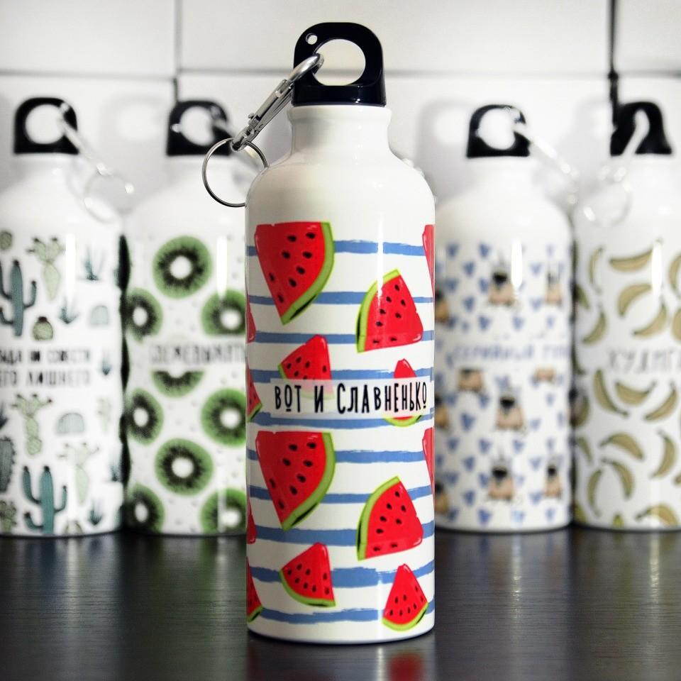Бутылки для воды с печатью
