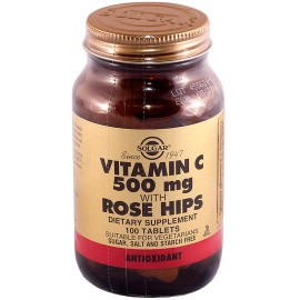 Солгар Витамин С и Шиповник, таблетки (100 шт.)