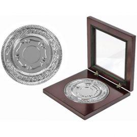 Медаль наградная в деревянном футляре