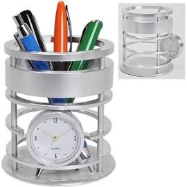"""Часы """"Женева"""" с подставкой для письменных принадлежностей"""